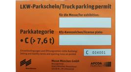 Kleintransporter / LKW / Anhänger Dauerparkausweis, Parkkategorie C ab 7,5 t