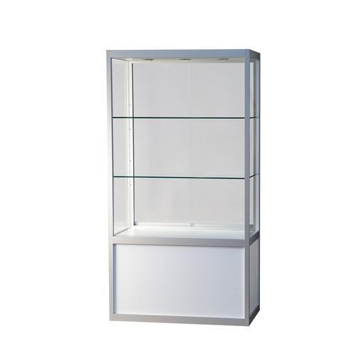 """""""Kappa"""" Schrankvitrine mit Unterbau, Glas/weiß, 559602"""