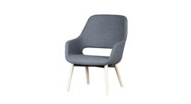 """Babila Comfort"" armchair, frame wood, upholstery grey, 206200"