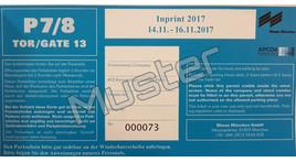 PKW / VAN Dauerparkausweis Freigelände, Publikumsmesse