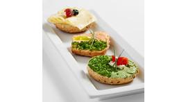 Half wholegrain roll III: with vegetarian cheese spread or sliced cheese