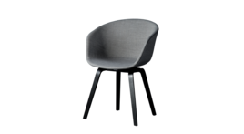 """About A Chair Black Edition"" Stuhl mit Armlehne, grau, 115704"