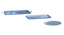 Edelstahlplatte - eckig 53*32 cm