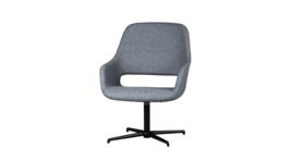 """Babila Comfort"" armchair, frame cross base, upholstery grey, 206400"