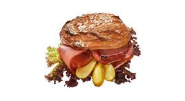 Vinschgerl-Sandwich - Kernschinken & Cornichon