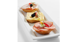 Half wholegrain roll I: with ham, salami or cheese