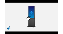 Digital information kiosk, single