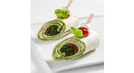 Mini-Wrap: Tomate und Mozzarella