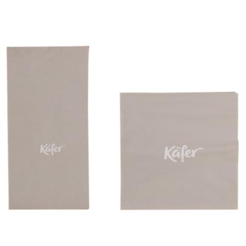 Käfer Papierservietten | grau | 24 x 24 cm 50 Stück