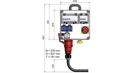 Elektro-Hauptanschluss Freigelände bis 3 kW inkl. Verbrauch/Erdung