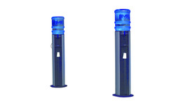 Cold /room temperature water dispenser tower, with cup dispenser