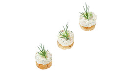 Fingerfood - Forelle, Meerrettich, Dill