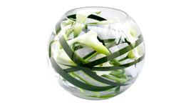 Floristik - Glas-Kugelvase