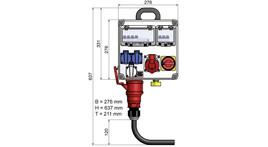 Main electrical connection hall up to 5 kW incl. consumption/earthing