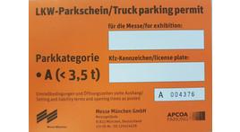 Kleintransporter / LKW / Anhänger Dauerparkausweis, Parkkategorie A bis 3,5 t (oder Anhänger)