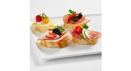Kanapee I: mit Schinken, Salami oder Käse
