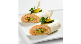 Mini-Wrap: Schinken und Käse