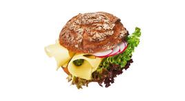 Vinschgerl-Sandwich - Emmentaler & Radieschen