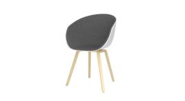 """""""""""About A Chair Fabric"""" Stuhl mit Armlehne, weiß/grau, 115705"""