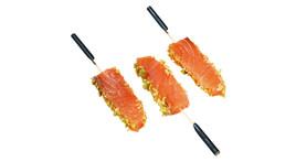 Fingerfood - Lachs, Wasabi, Honig-Crunch