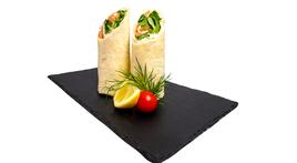 Mini-Wraps gefüllt mit Hummus, Couscous und Salat