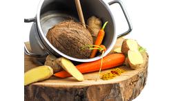 Karotte-Kokos-Ingwer-Suppe (vegetarisch)